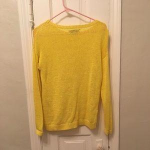 LOFT loose chunky tight woven sweater